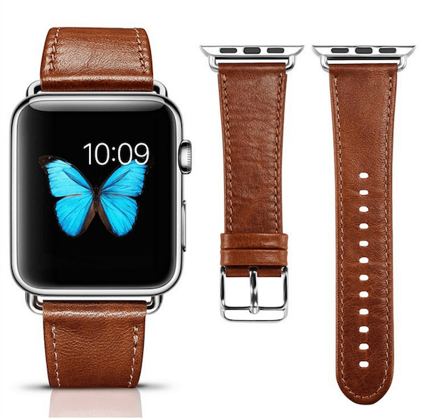 Image of   iCarer Apple Watch Genuine læderrem