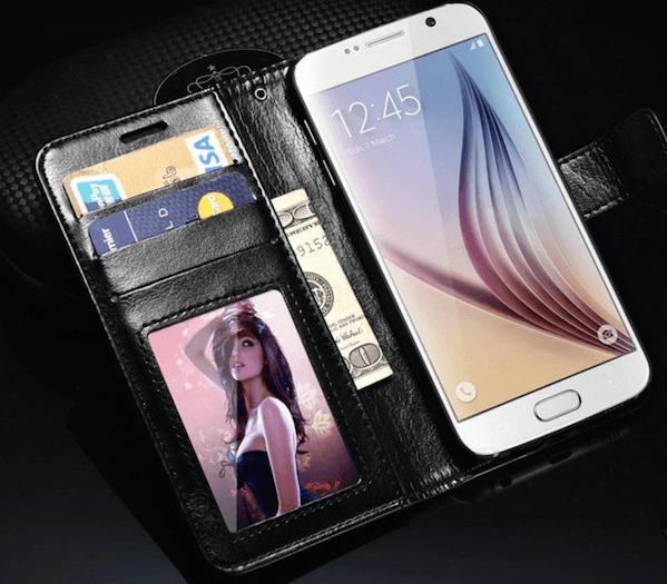 Juno PU Læder Flip Cover til Samsung Galaxy S6 Edge