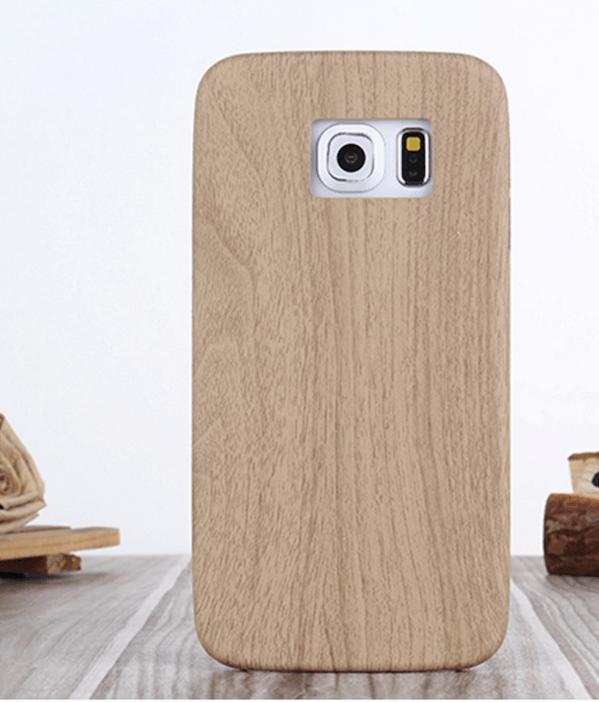 Billede af Bacchus Træ Cover til Samsung Galaxy S6 Edge-Valnød træ