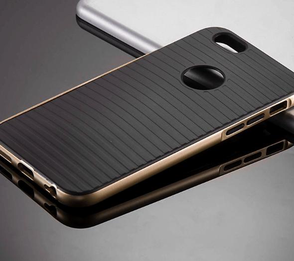 Stødsikkert silikone cover til Iphone 5/5s/SE-Guld