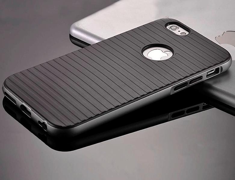 Stødsikkert silikone cover til Iphone 5/5s/SE-Grå