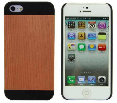 Træ cover til iPhone 5/5s/SE