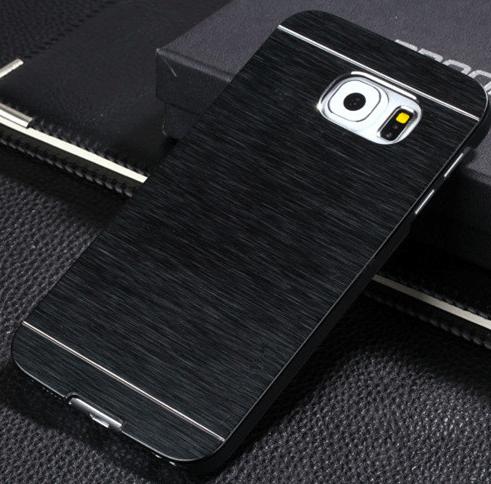 Gaia Aluminium cover til Samsung Galaxy S6 Edge-Sort