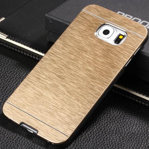 Gaia Aluminium cover til Samsung Galaxy S6 Edge-Guld
