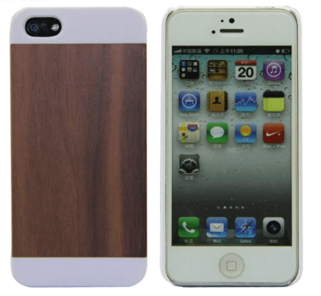Træ cover til iPhone 5/5s/SE-Mørkebrun