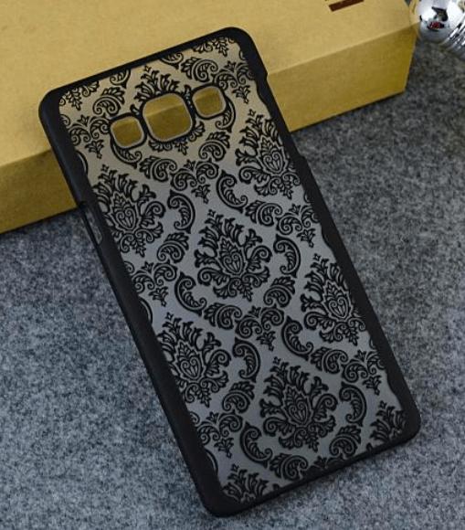 Metis Cover med mønster til Samsung Galaxy S6 -Sort