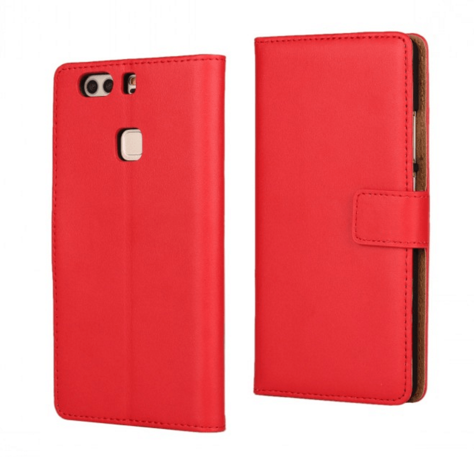 Billede af Graviera Huawei P8 Læder Flip Cover-Rød