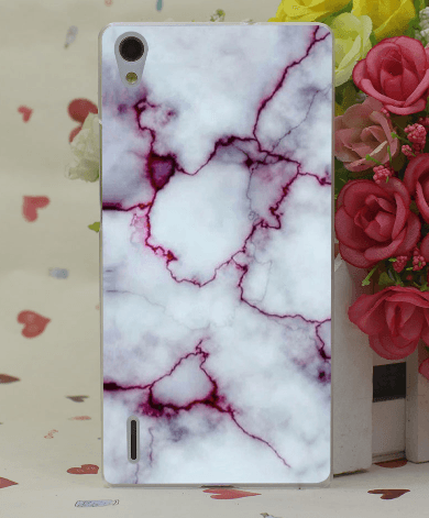 Marmor cover til Huawei P9-Hvid