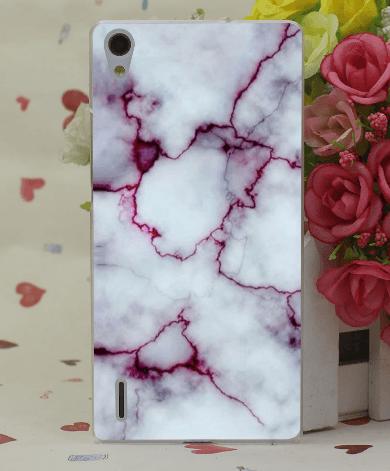 Marmor cover til Huawei P9 Lite-Hvid