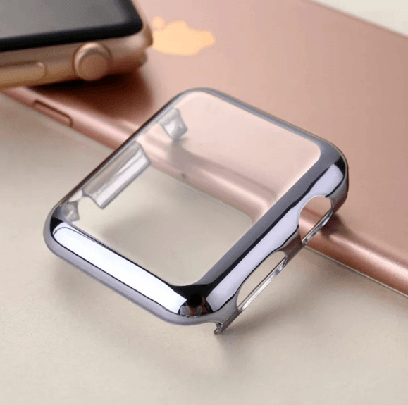 Image of   Apple Watch cover med skærmbeskyttelse-Sølv-42 mm
