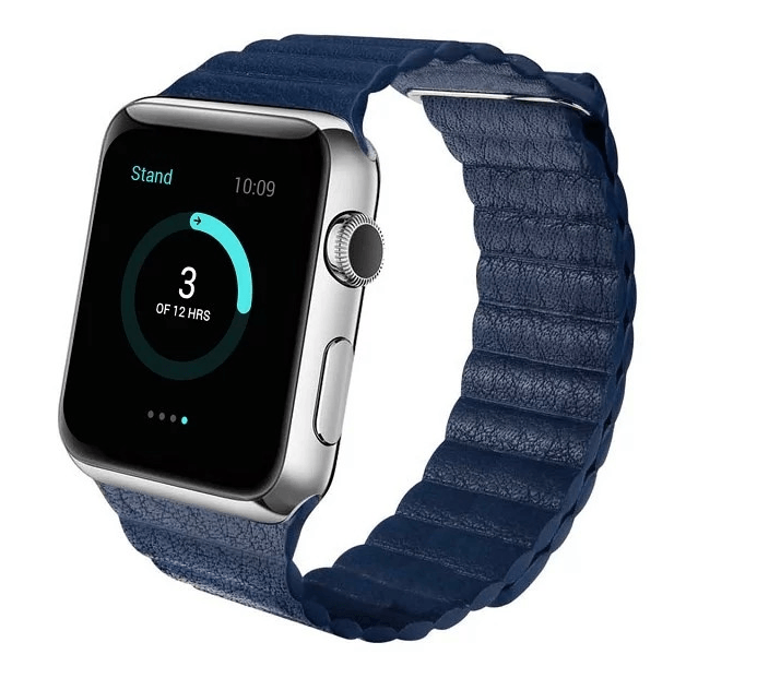 Billede af Apple watch Loop Genuine læderrem-Mørkeblå-38 mm