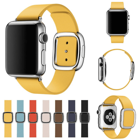 Image of   Apple Watch Læderrem med Spænde