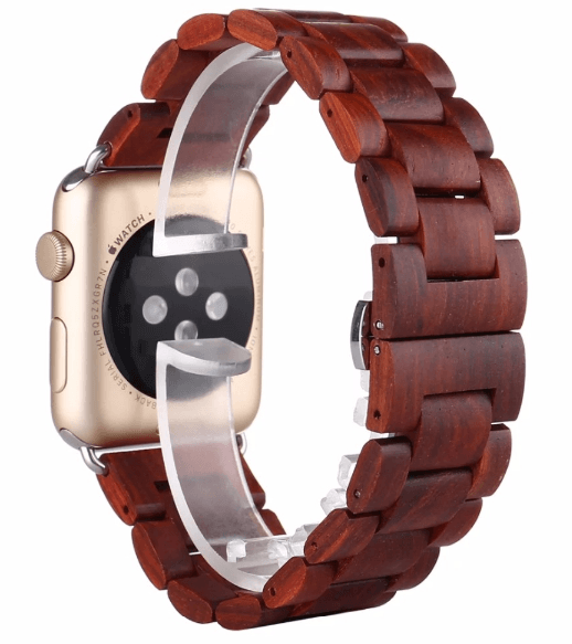 Image of   Apple Watch rem i Træ-Brun-38 mm