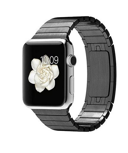 Image of   Ferrum Apple Watch rem i rustfrit stål - 42mm-Sort