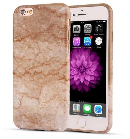 Billede af Guld iPhone 7 Marmor Cover