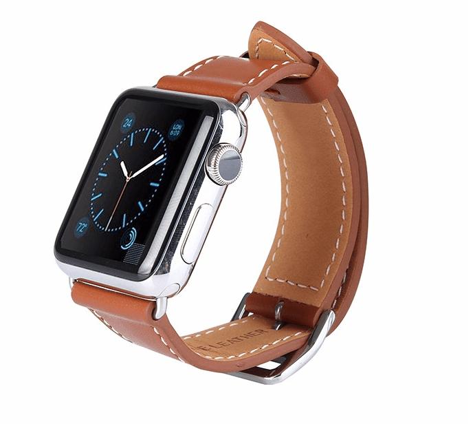 Image of   Brun læderrem til Apple watch-38/40 mm
