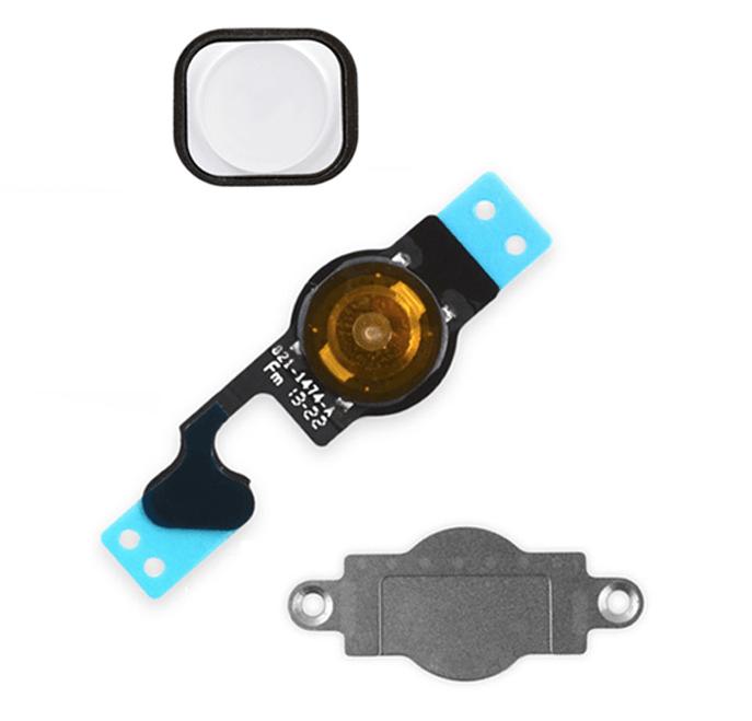 Image of   Kabel til hjemknap med knap til iPhone 5-Hvid