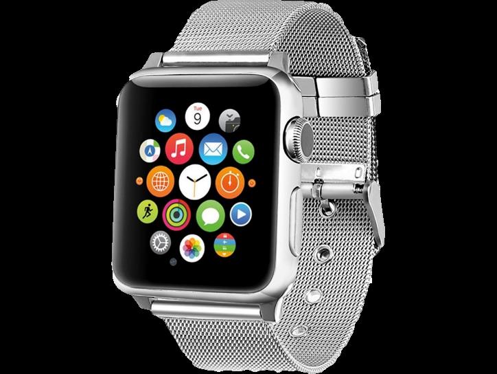 Image of   Fermo Metal rem til Apple Watch-Sølv-42/44 mm