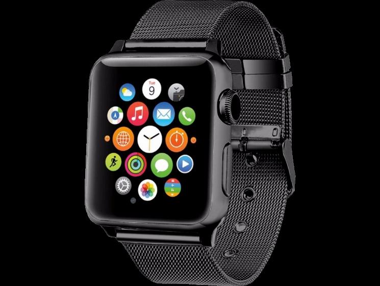 Image of   Fermo Metal rem til Apple Watch 1 / 2 / 3 / 4-Sort-42/44 mm