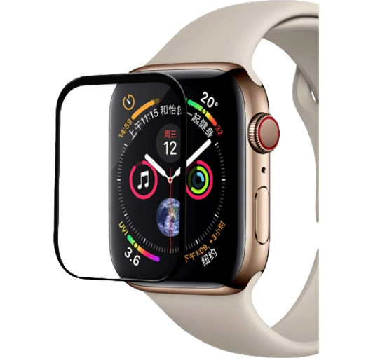 Image of   3D Curved Hærdet Beskyttelsesglas til Apple Watch 4 / 5-40 mm