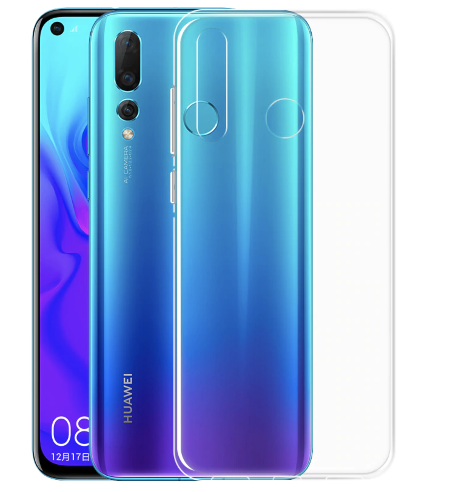 Transparent TPU Cover til Huawei P30