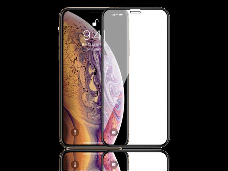 Image of   3D Hærdet Beskyttelsesglas til iPhone X/XS-Sort