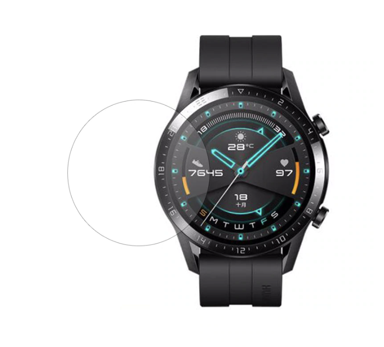 Hærdet Beskyttelsesglas til Huawei Watch GT 2e / GT 2 - 46mm