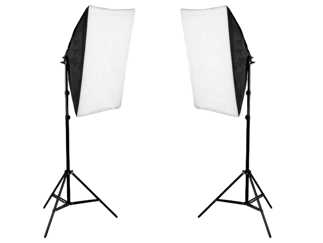 Image of   2x Softbox m/Stativer