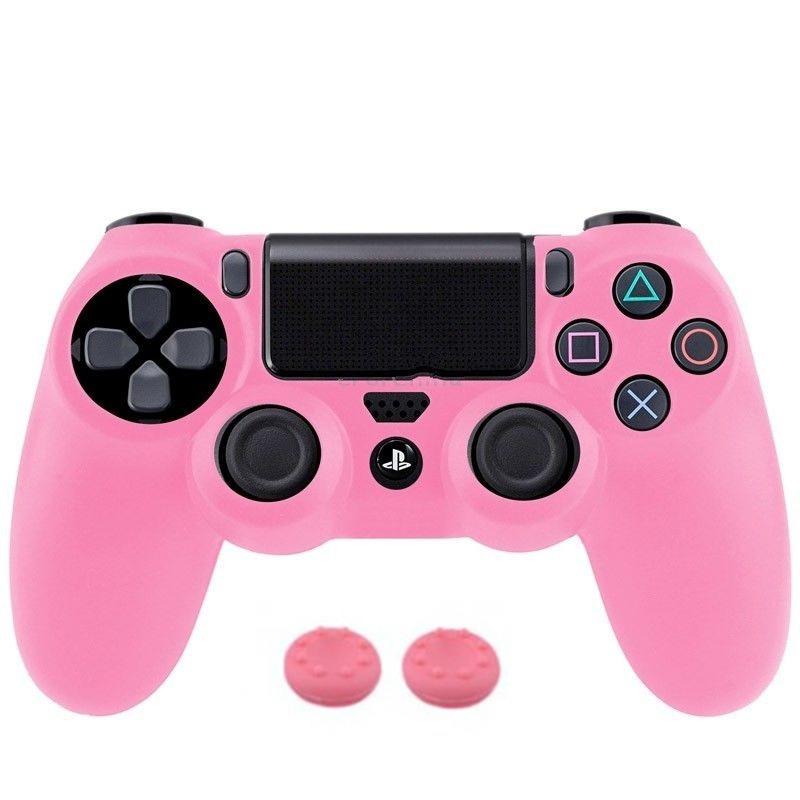 Silikone sleeve til PS4 controller -Pink
