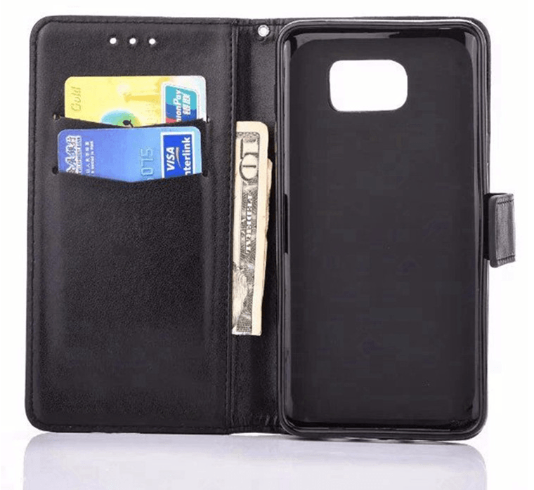 Silba Flip cover pung til Huawei P8-Sort