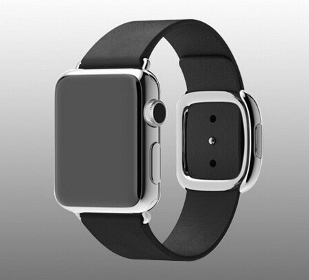Image of   Apple Watch Læderrem med Spænde-Sort-38 mm