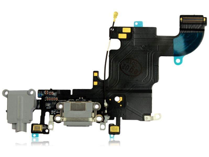 Image of   iPhone 6S Oplader + hovedtelefon indgang -Sort
