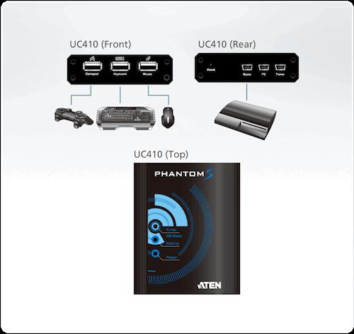 PHANTOM-S tastatur og mus adapter til PS4 / PS3 / Xbox360 / Xbox One