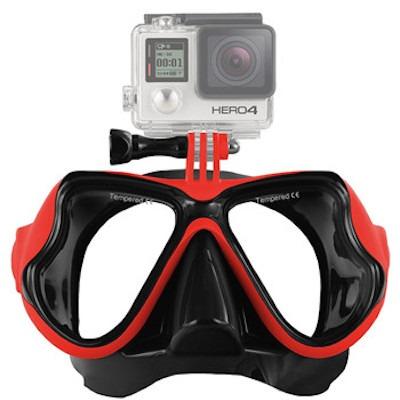 Dykkermaske til GoPro 4 / 3 / 2-Rød