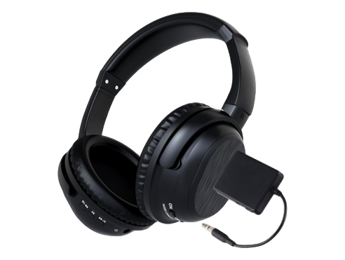 Image of   Lucius Trådløst TV-Headset med Noise Cancelling-Sort