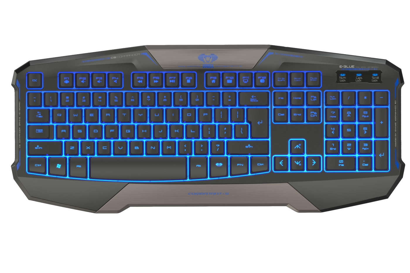 Image of   E-Blue Cobra Commander Gaming tastatur