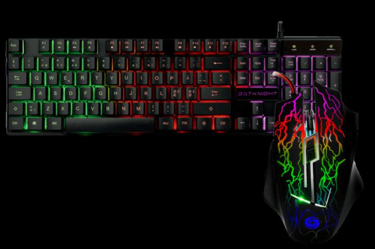 Gamer sæt med mus og tastatur