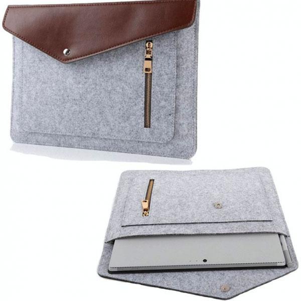 Uld / Læder MacBook sleve