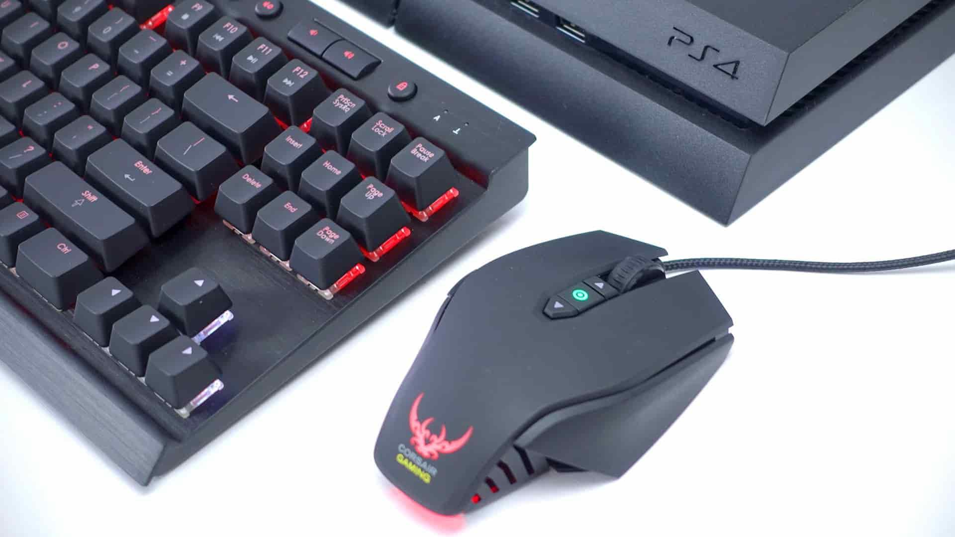 tastatur og mus til PS4