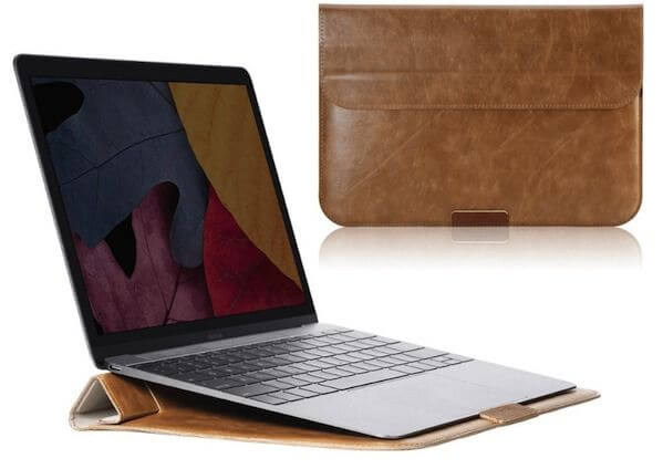 apple macbook 12 sleeve i læder