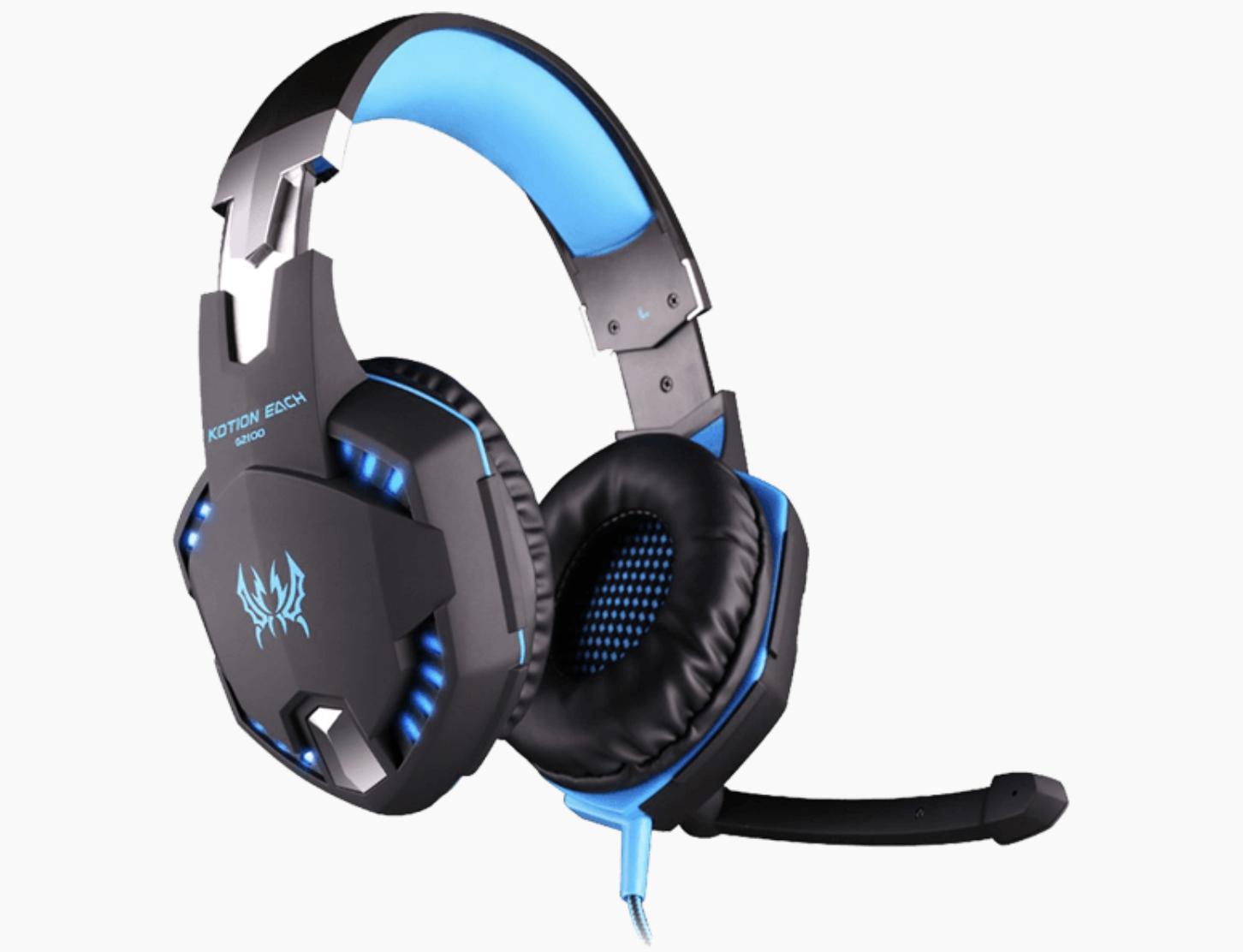 Gaming headphones med lys