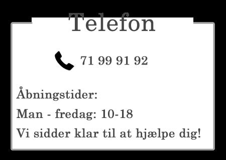 kontakt os på telefon
